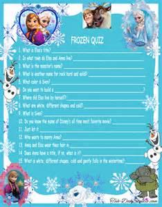 New disney frozen movie quiz game birthday party quick page scrapbook