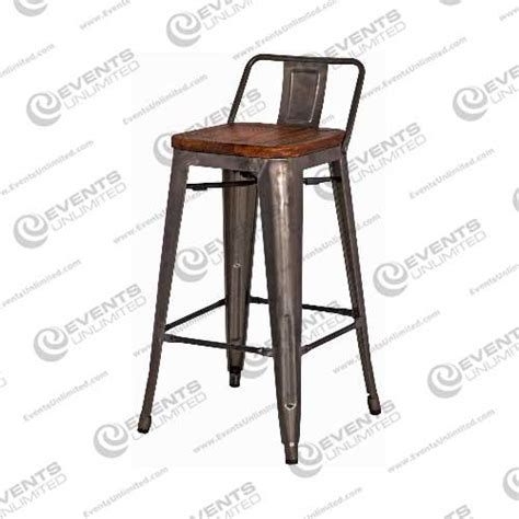 Grainy Stool by Industrial Wood And Gunmetal Stool Events Unlimited