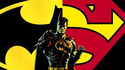 wallpaper batman superman superman and batman logo wallpapers wallpaper cave