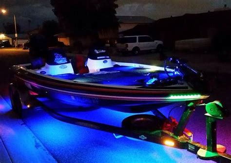 bluewater boat plans blue water led customer showcase general bass boat led