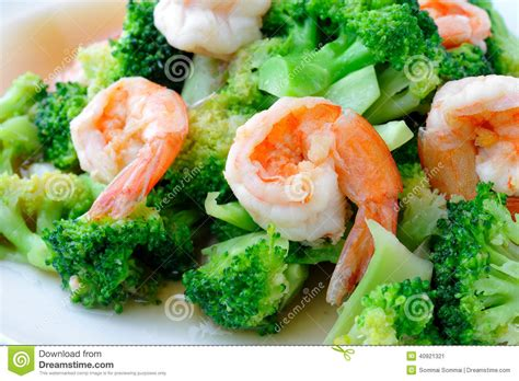 thai better food thai healthy food stir fried broccoli with shrimp stock