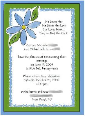 wedding blessing ceremony invitations open question invitation wording weddingbee