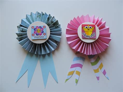 How To Make A Paper Badge - paper badge my kid craft
