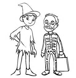 costumes halloween coloring pictures