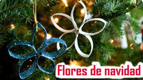 como hacer flores de papel para navidad flores de navidad con rollos de papel higi 233 nico