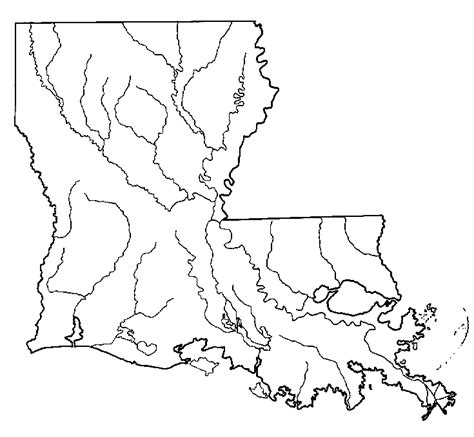 louisiana map coloring page blank map of ireland coloring home