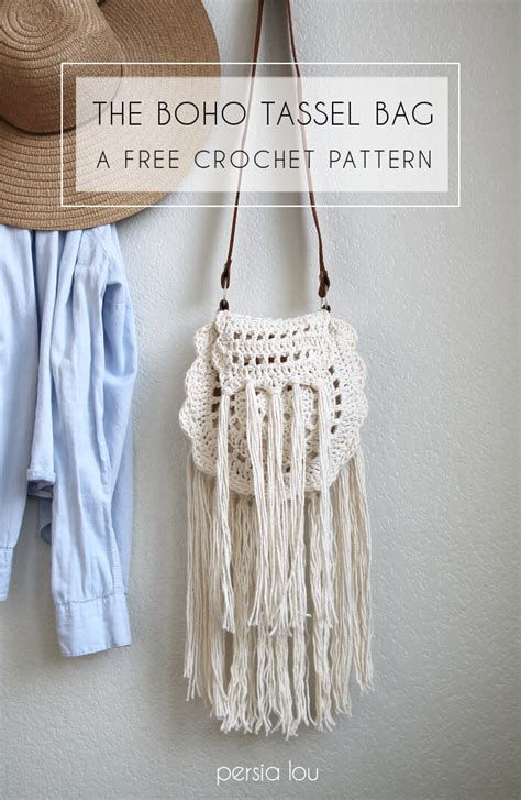 crochet pattern for boho bag boho tassel crochet bag free pattern allcrafts free
