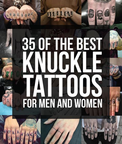 35 of the best knuckle tattoos for men and women tattooblend