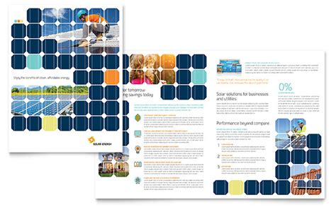 Solar Energy Brochure Template Design