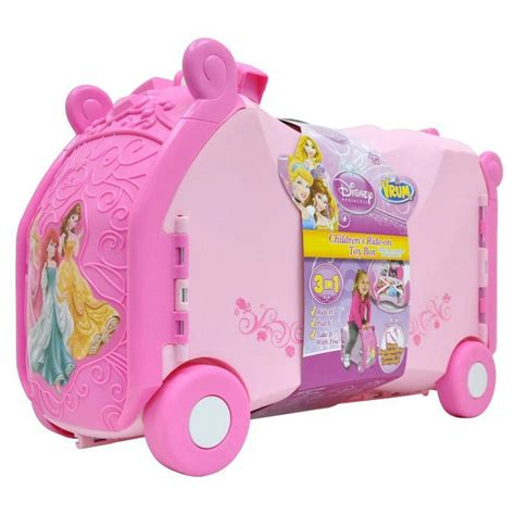 disney princess childrens luggage ride sit on suitcase