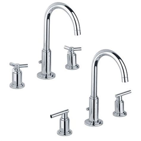 Bathroom Sink Faucet Leaking From Spout by Grohe Atrio High Spout Lavatory Wideset Starlight Chrome