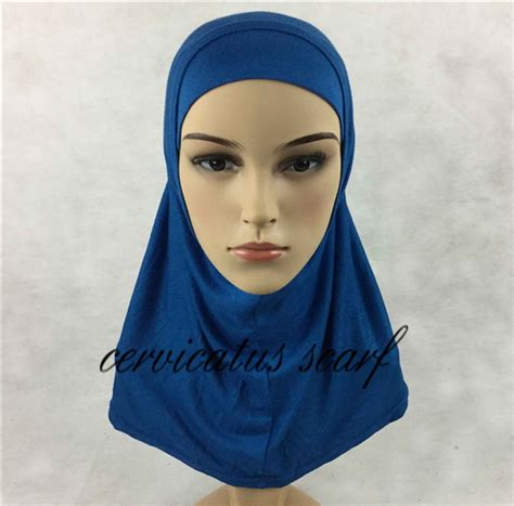 Kain Jilbab Potton Scraf free fast shipping plain amira for 2 pcs color muslim cotton jersey scarves