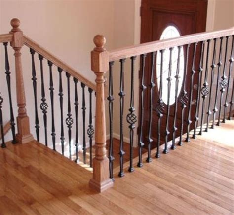wooden stair banister 33 wrought iron railing ideas for indoors and outdoors