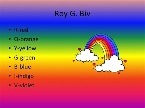 what is the color of the rainbow colors of the rainbow