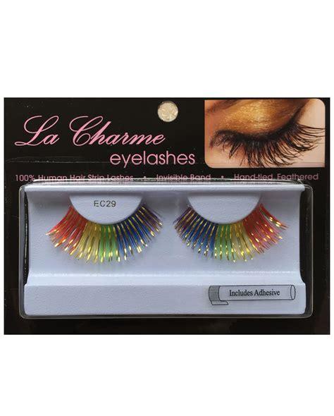 Eyelashes Real Hair 1 real hair eyelashes multicolour rainbow coloured