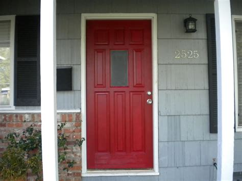 images of front doors posh red our front door updated home depot center
