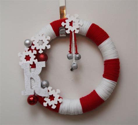 yarn christmas wreath crafts