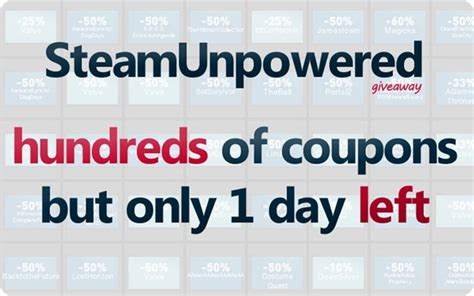Steam Coupon Giveaway - coupons archives steam unpowered