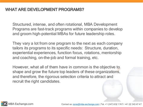 Aep Mba Rotational Program by Mba Exchange 166 Mba Development Programs Report 2015