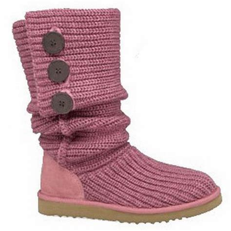 Ugg Classic Cardy Boots 5819 Pink Outlet Stores Womens Ugg Classic Cardy Boots Pink Boots