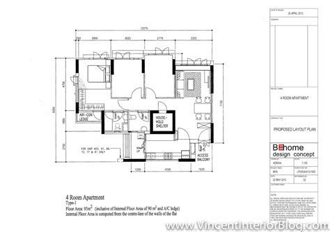 3 Bedroom Flat Plan Drawing buangkok vale 4 room hdb renovation by behome design
