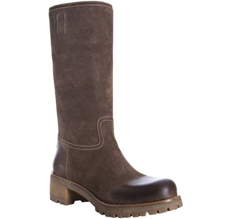 prada sport light brown suede lugg boots in brown lyst