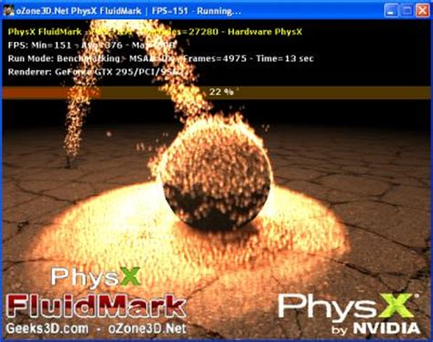 3d bench mark geeks3d physx fluidmark 1 1 0 available geeks3d