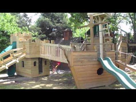 castle playhouse pirate ship playhouse  tree bridge
