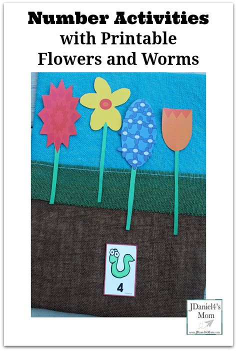 printable games about flowers number activities with printable flowers and worms