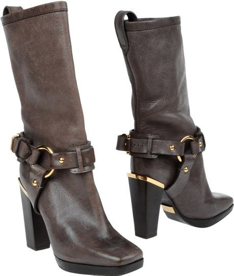 michael kors high heeled boots in black lyst
