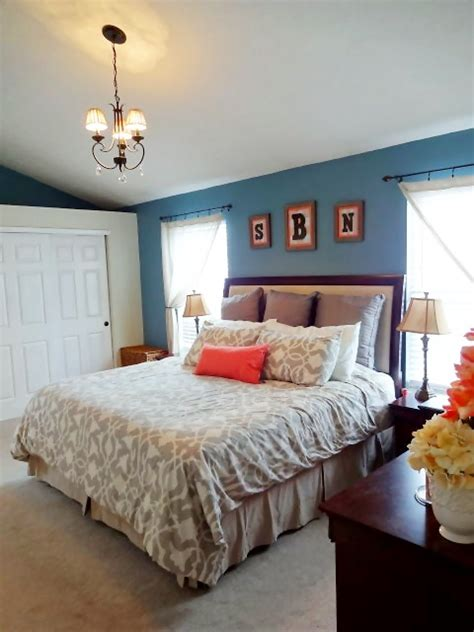 coral bedroom ideas blue and coral master bedroom decor for the home