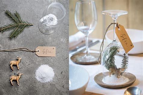 decorare la tavola a natale fai da te idee segnaposto per la tavola di natale casafacile