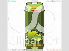 Clipart of a Green Apple Juice Carton 2 - Royalty Free ... Green Juice Clipart