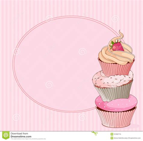 free cupcake template for s card cupcake place card stock vector illustration of sugar