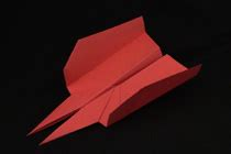 How To Make The Hawkeye Paper Airplane - paper airplanes are easy to make and to fly children