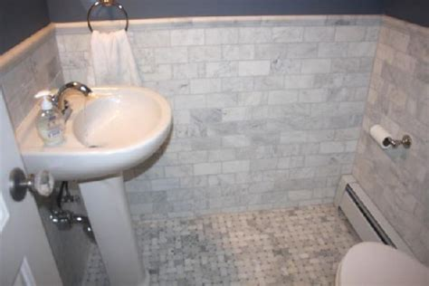 marble and subway tile bathroom marble subway tile contemporary bathroom