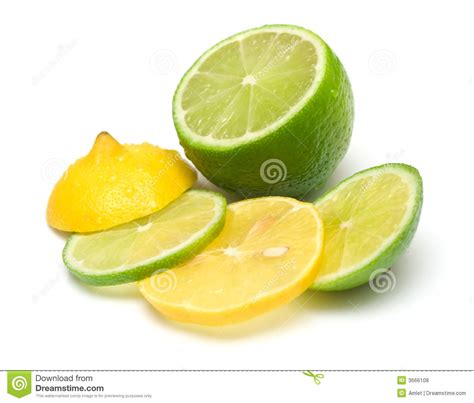 which is better lemon or lime lemon and lime royalty free stock photos image 3666108