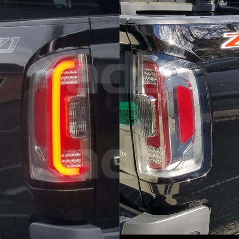 2015 gmc canyon led tail lights 2015 2018 gmc canyon led smoke tail lights rear brake
