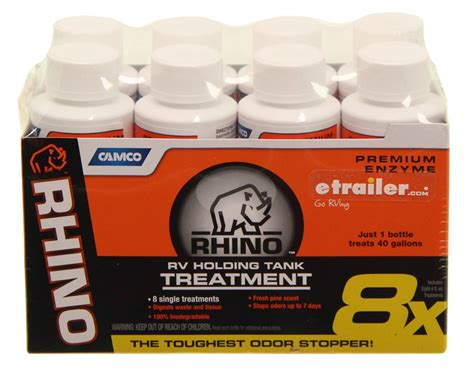 rhino premium enzyme rv septic system liquid treatment