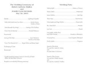 program template for wedding wedding program templates wedding programs fast