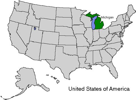 michigan map of usa michigan usa map