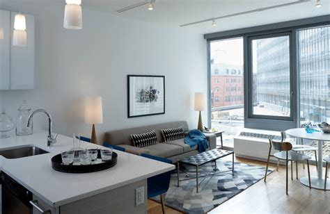 bedroom and living room in one space mercedes house midtown modern interior design 1 bedroom