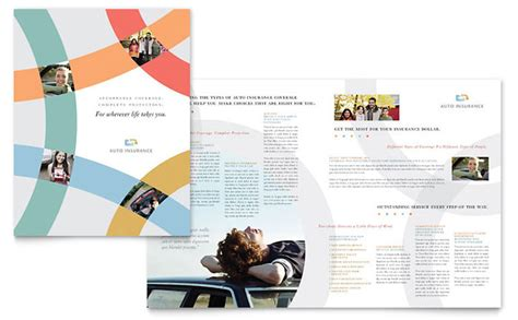 Insurance Information Brochure Outline by Car Insurance Company Brochure Template Design
