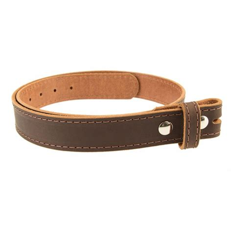 Handmade Belt - buffalo leather stitched casual belt strap no buckle 1 1 2