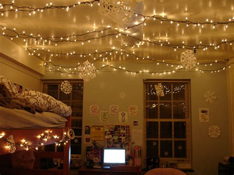bed christmas cozy lights room image 456360 on