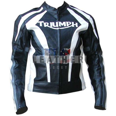 Triumph Motorrad Lederjacke by Triumph Black Custom Motorcycle Leather Jackets