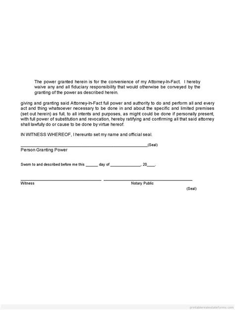 free power of attorney template sle printable limited power of attorney form sle