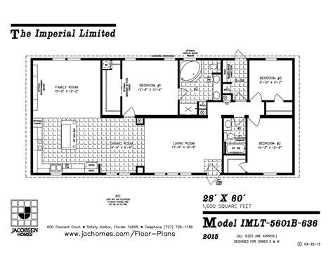 imlt 46412b mobile home floor plan ocala custom homes imlt 5601b 636 mobile home floor plan ocala custom homes