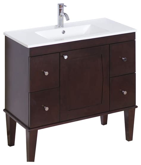 birch bathroom vanity cabinets transitional birch vanity base only in antique walnut 35