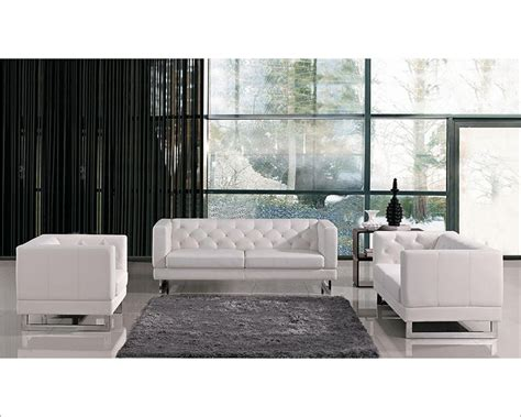 contemporary tufted eco leather sofa set 44l6108